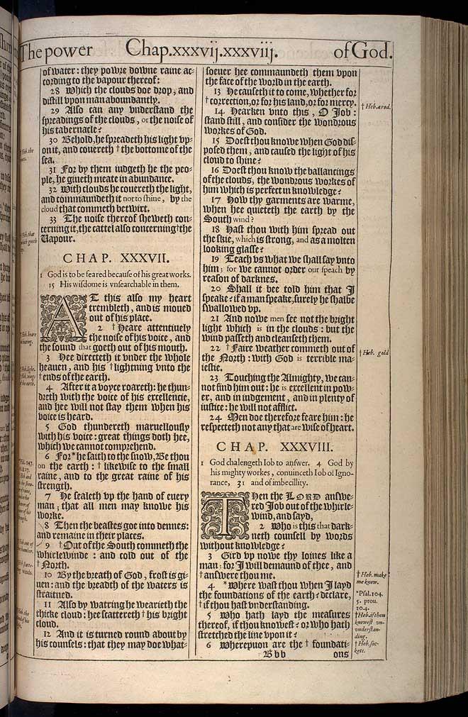 Job Chapter 36 Original 1611 Bible Scan