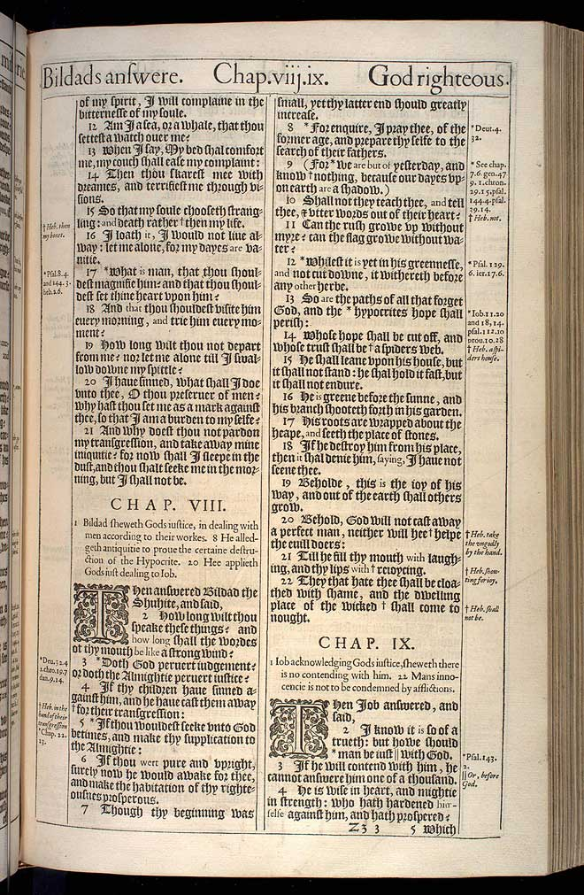 Job Chapter 9 Original 1611 Bible Scan
