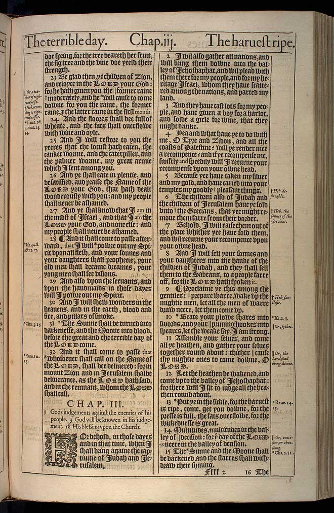 Joel Chapter 3 Original 1611 Bible Scan