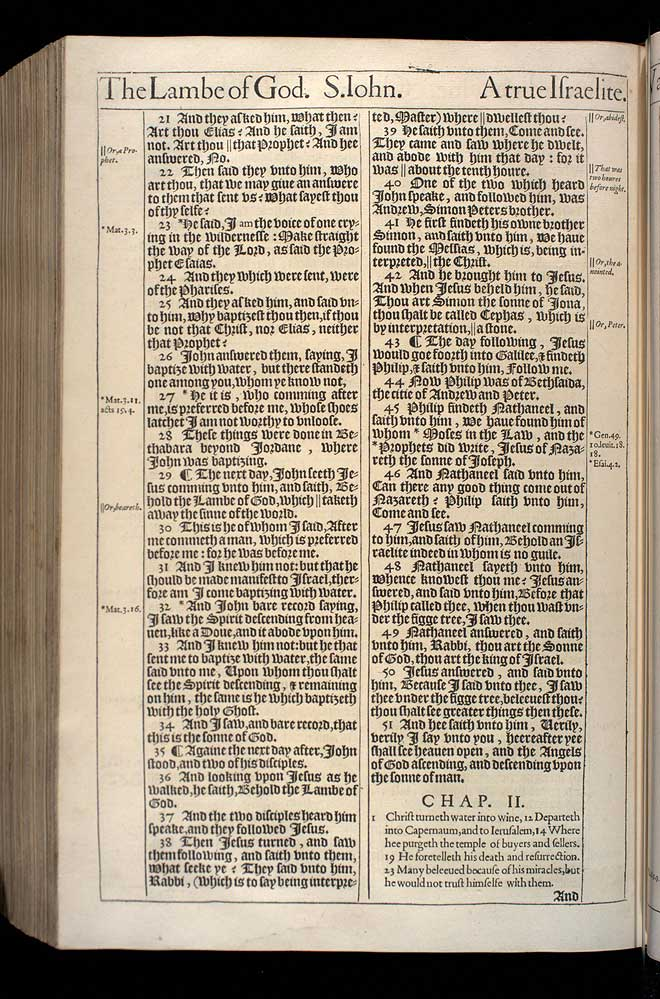 John Chapter 1 Original 1611 Bible Scan