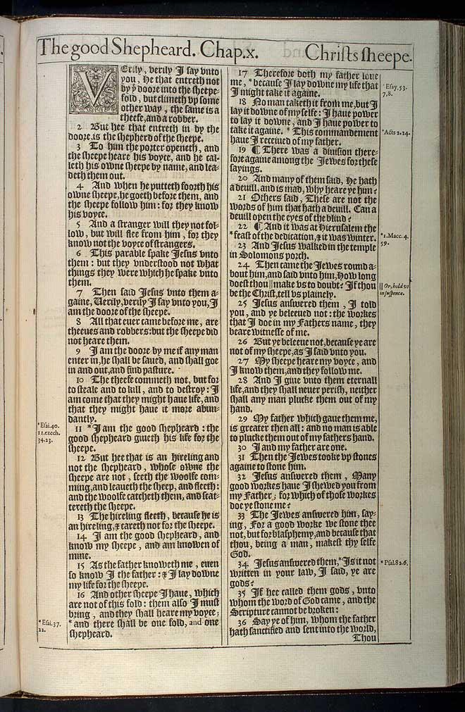 John Chapter 10 Original 1611 Bible Scan