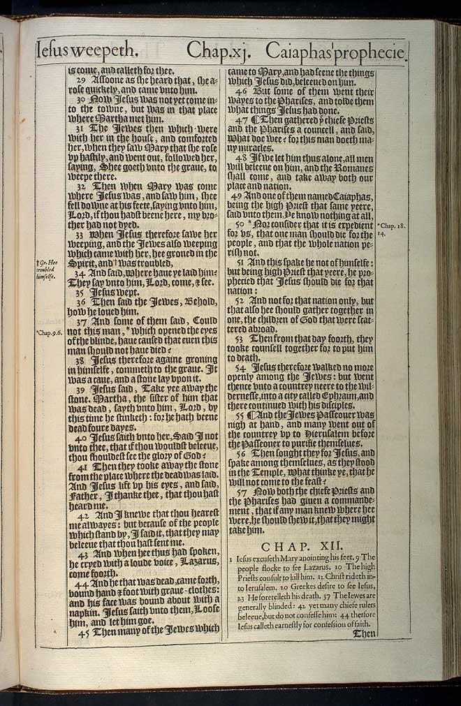 John Chapter 11 Original 1611 Bible Scan