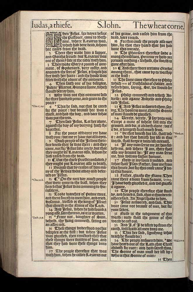 John Chapter 12 Original 1611 Bible Scan
