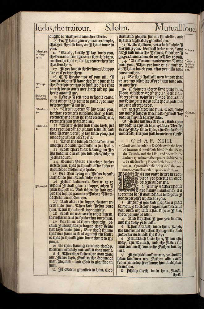 John Chapter 13 Original 1611 Bible Scan