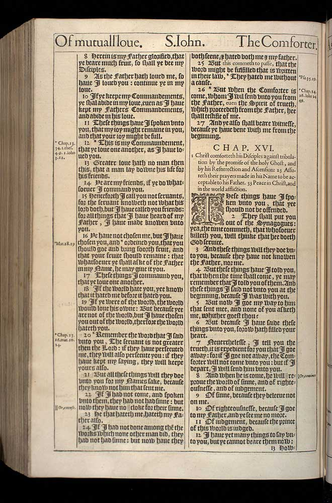 John Chapter 16 Original 1611 Bible Scan
