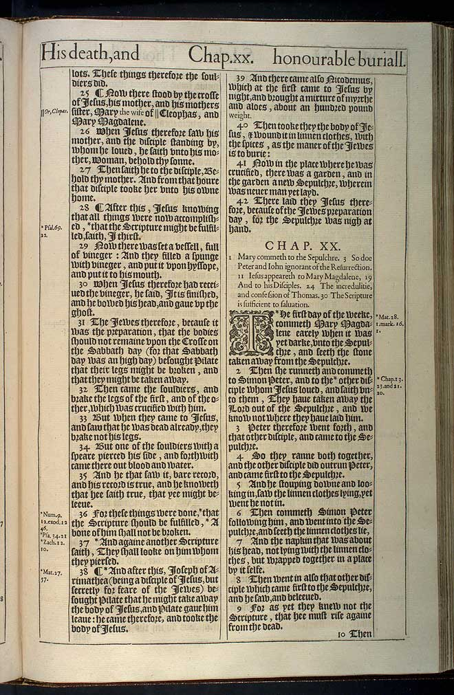 John Chapter 19 Original 1611 Bible Scan