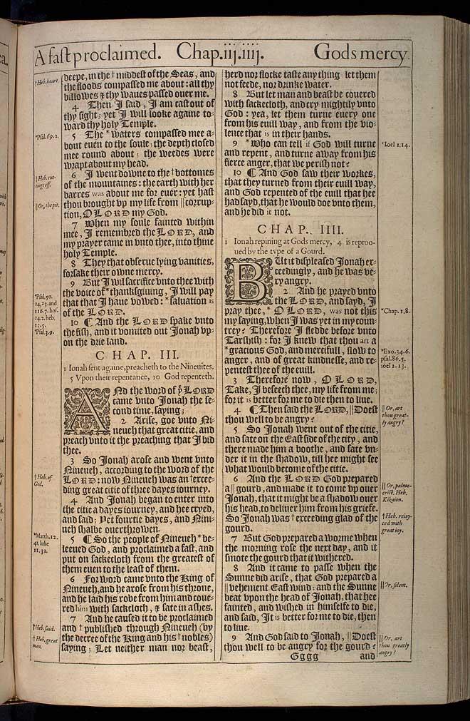 Jonah Chapter 3 Original 1611 Bible Scan