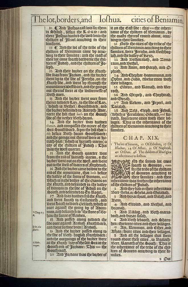 Joshua Chapter 18 Original 1611 Bible Scan