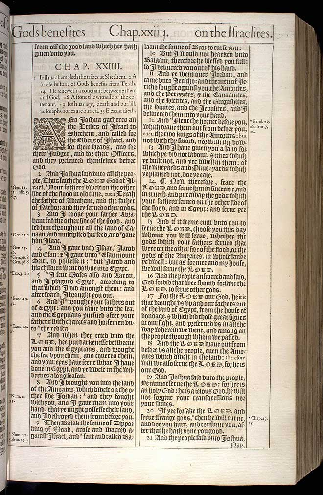 Joshua Chapter 24 Original 1611 Bible Scan
