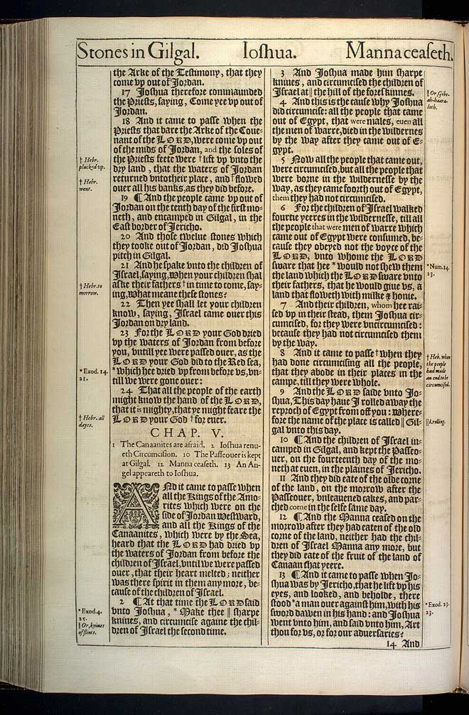 Joshua Chapter 4 Original 1611 Bible Scan