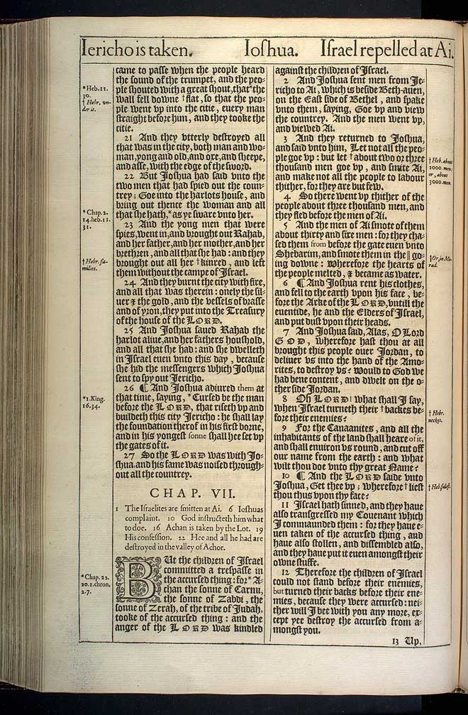 Joshua Chapter 6 Original 1611 Bible Scan