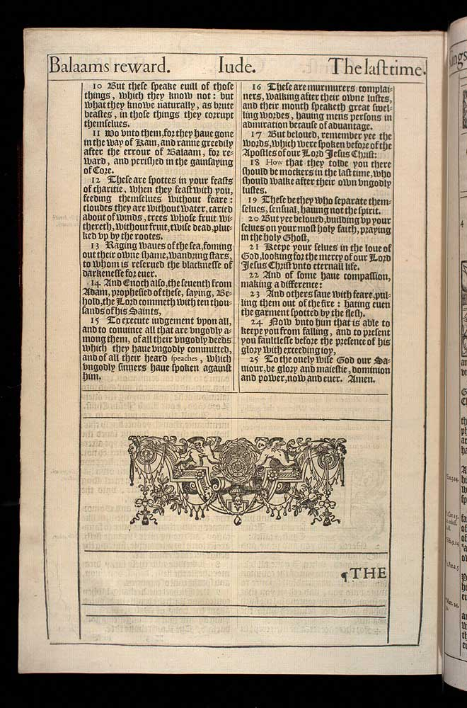 Jude Chapter 1 Original 1611 Bible Scan