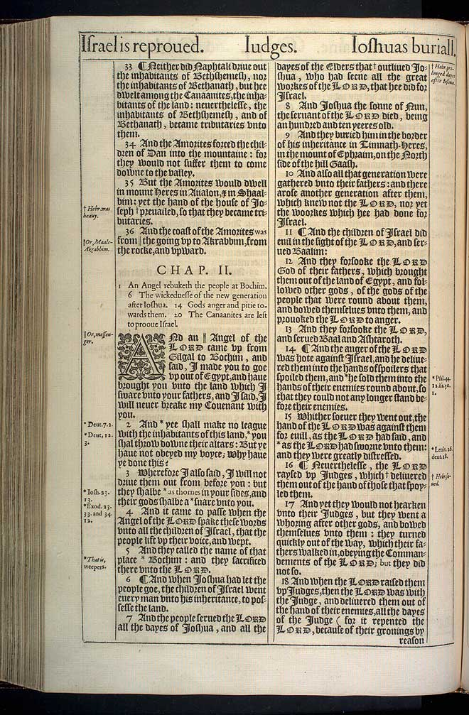 Judges Chapter 1 Original 1611 Bible Scan