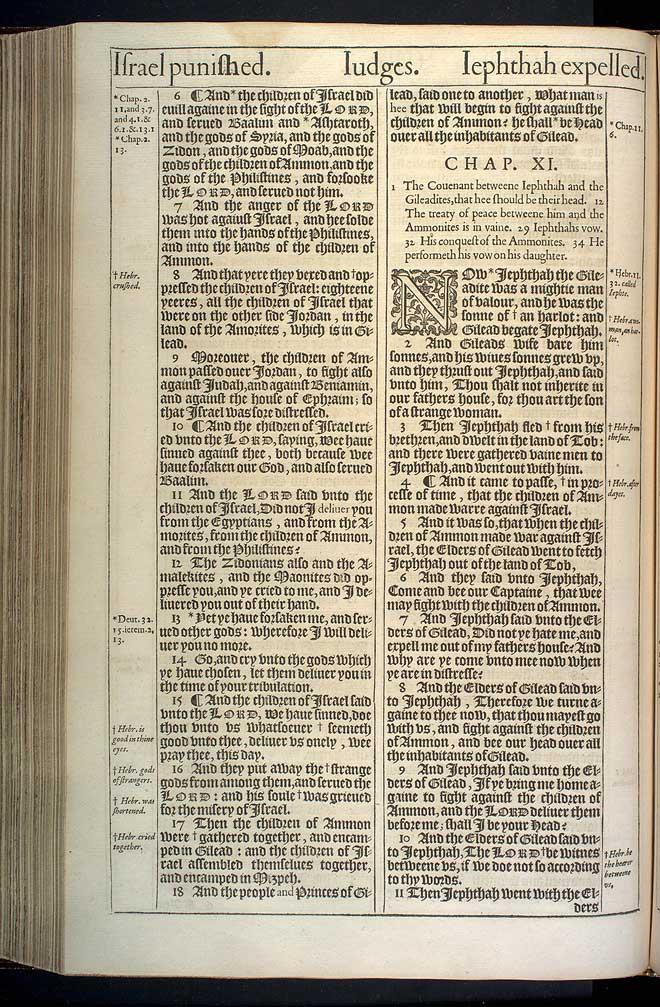 Judges Chapter 10 Original 1611 Bible Scan