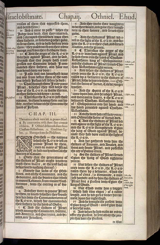 Judges Chapter 2 Original 1611 Bible Scan