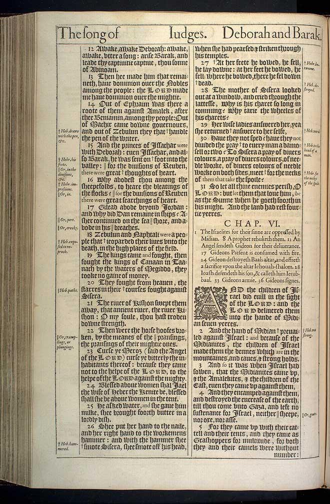 Judges Chapter 6 Original 1611 Bible Scan