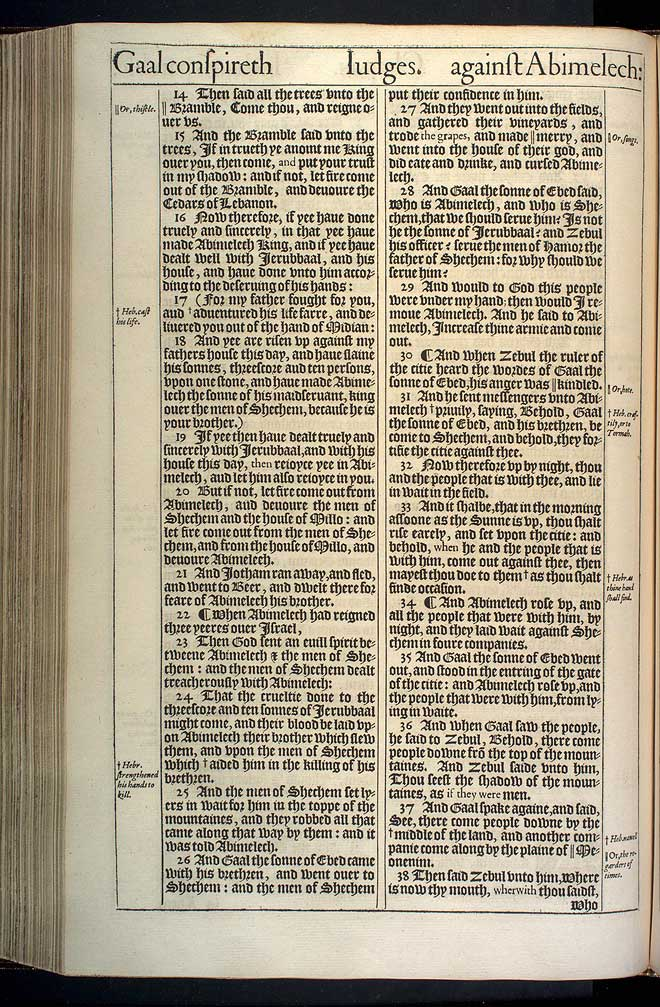 Judges Chapter 9 Original 1611 Bible Scan