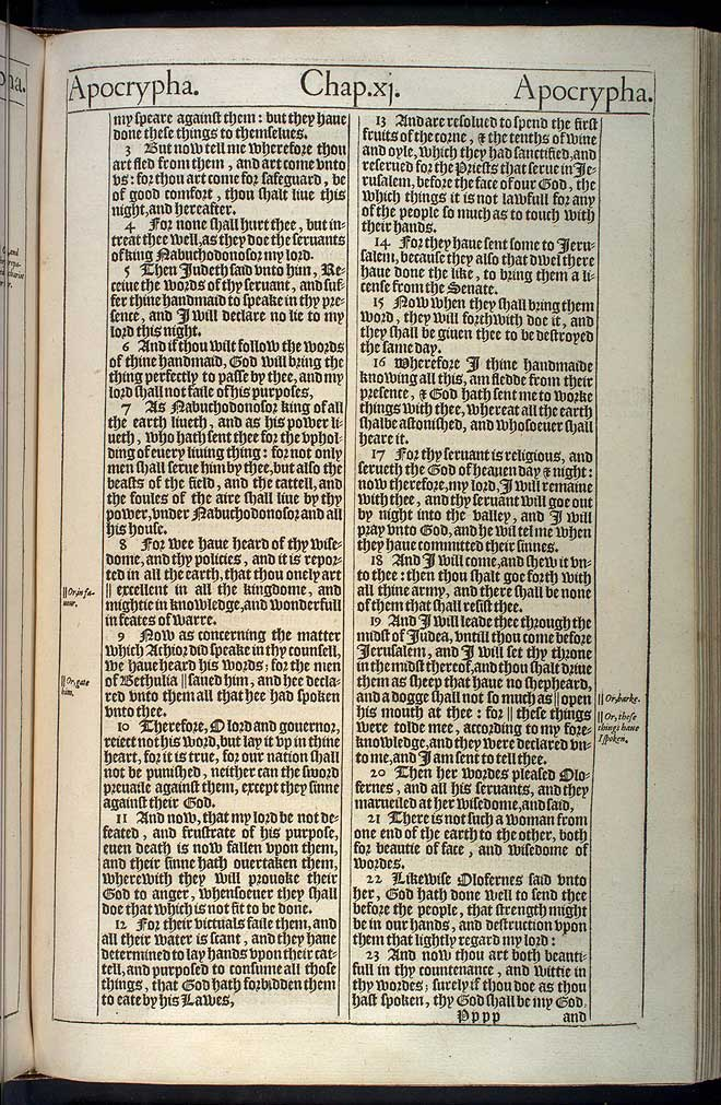 Judith Chapter 11 Original 1611 Bible Scan