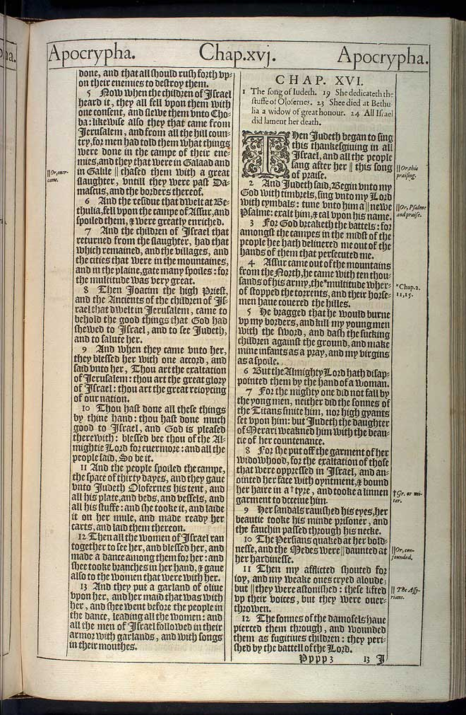 Judith Chapter 16 Original 1611 Bible Scan