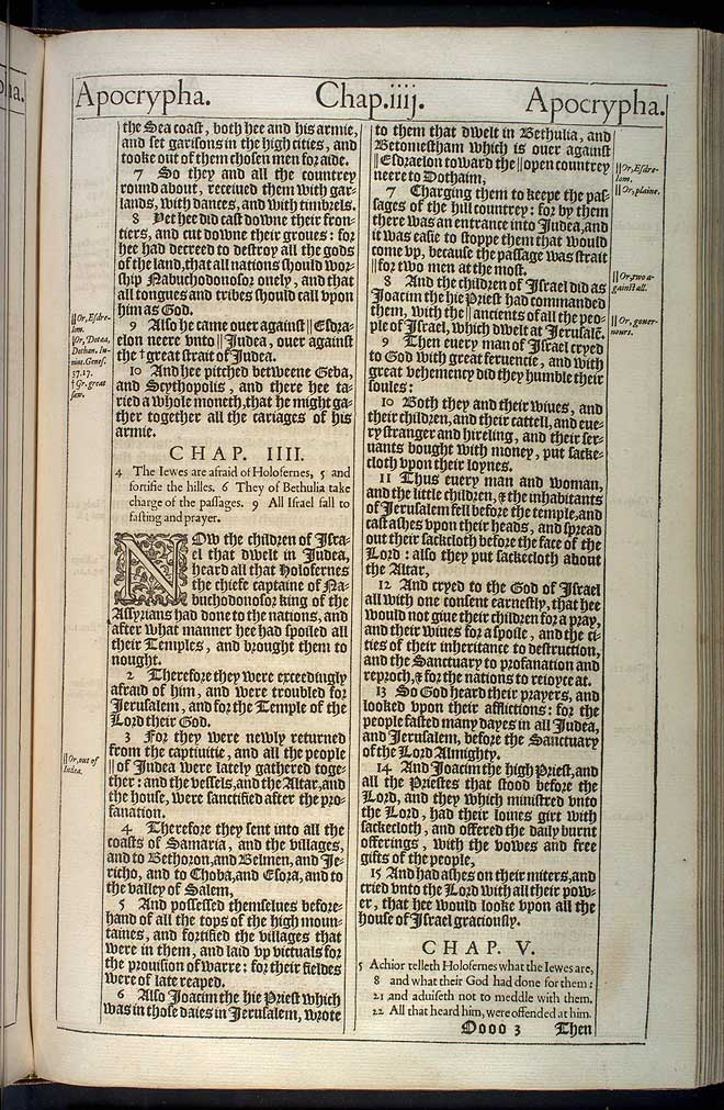 Judith Chapter 4 Original 1611 Bible Scan