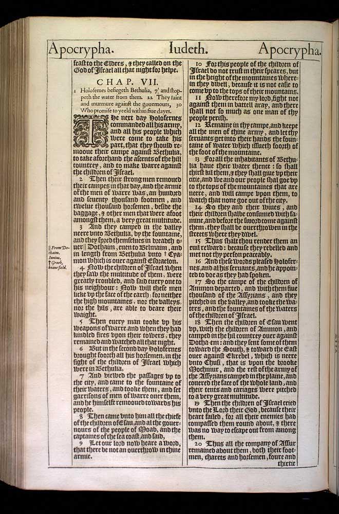 Judith Chapter 6 Original 1611 Bible Scan