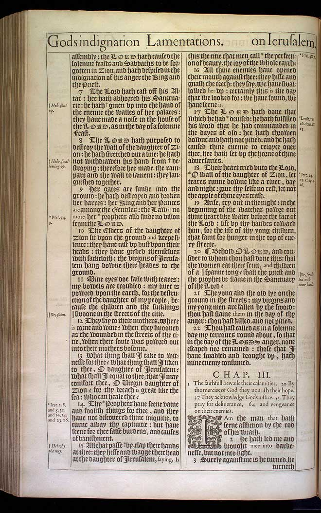 Lamentations Chapter 3 Original 1611 Bible Scan