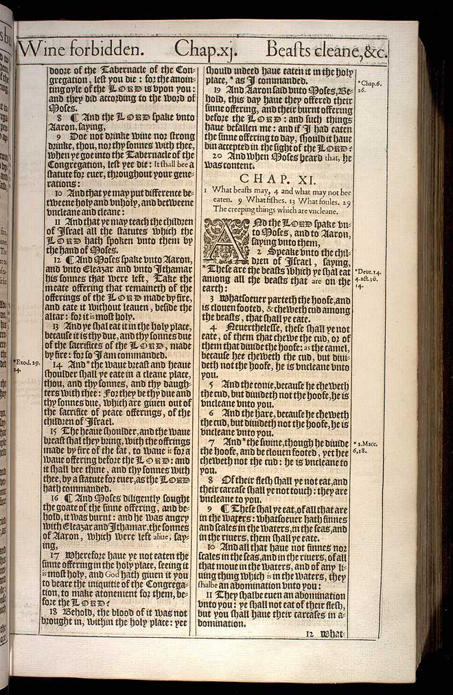 Leviticus Chapter 11 Original 1611 Bible Scan