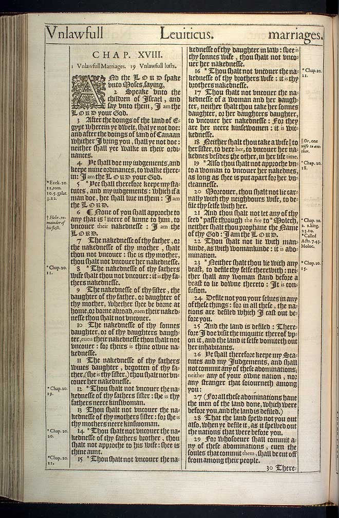 Leviticus Chapter 18 Original 1611 Bible Scan