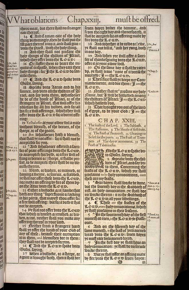 Leviticus Chapter 23 Original 1611 Bible Scan