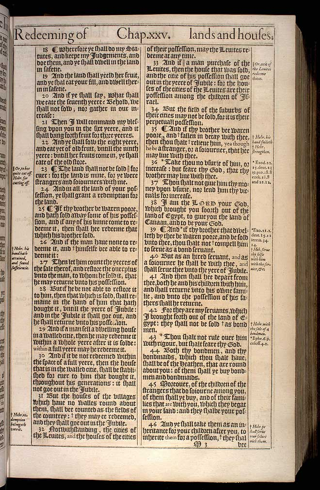 Leviticus Chapter 25 Original 1611 Bible Scan