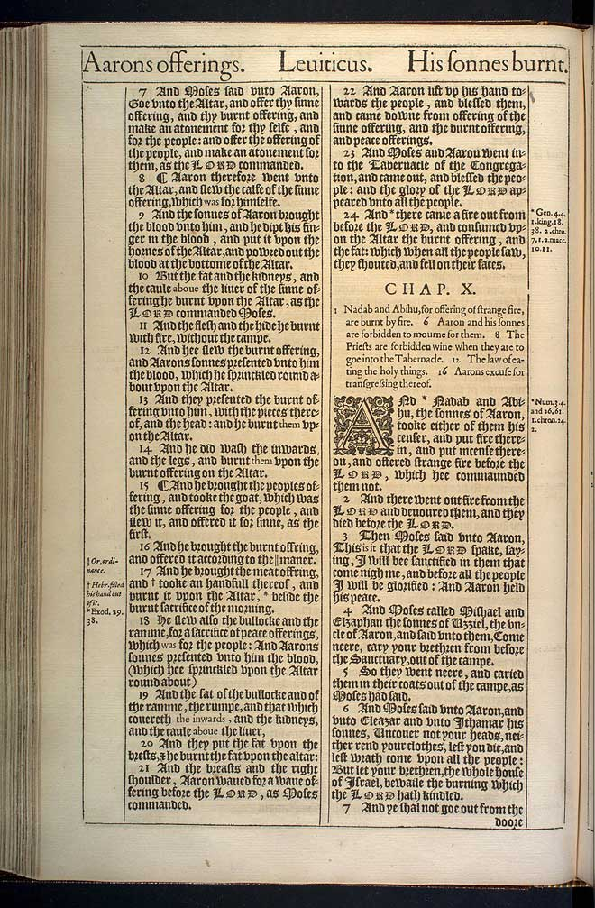 Leviticus Chapter 9 Original 1611 Bible Scan