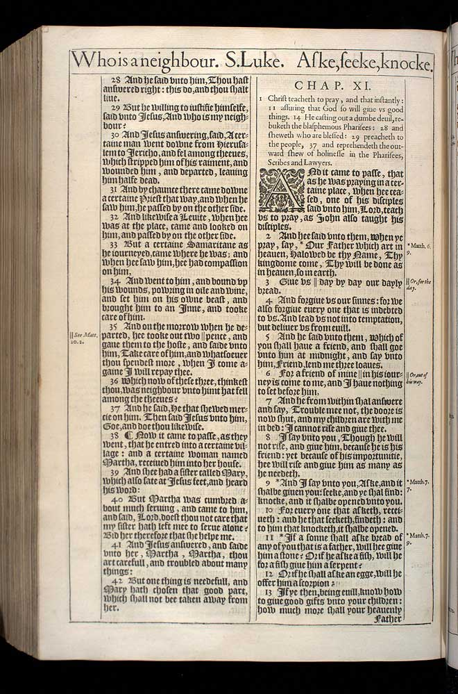 Luke Chapter 11 Original 1611 Bible Scan
