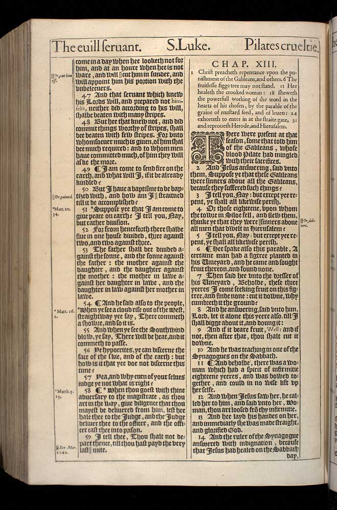 Luke Chapter 13 Original 1611 Bible Scan