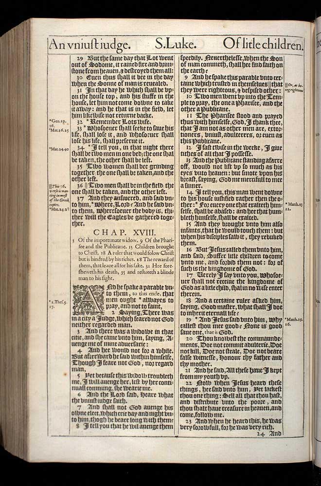 Luke Chapter 17 Original 1611 Bible Scan