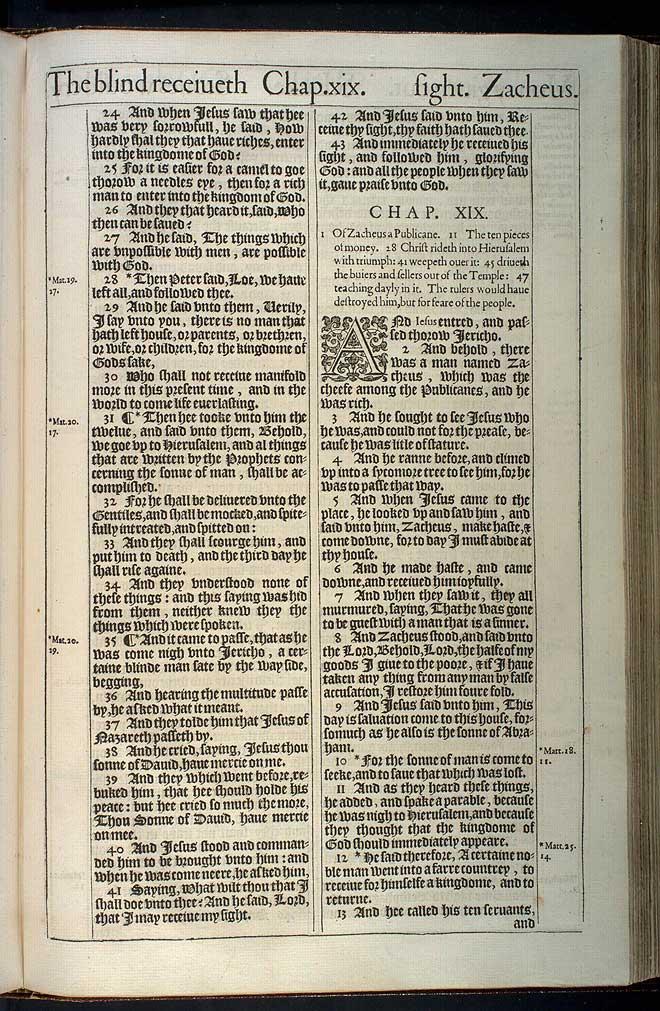 Luke Chapter 18 Original 1611 Bible Scan