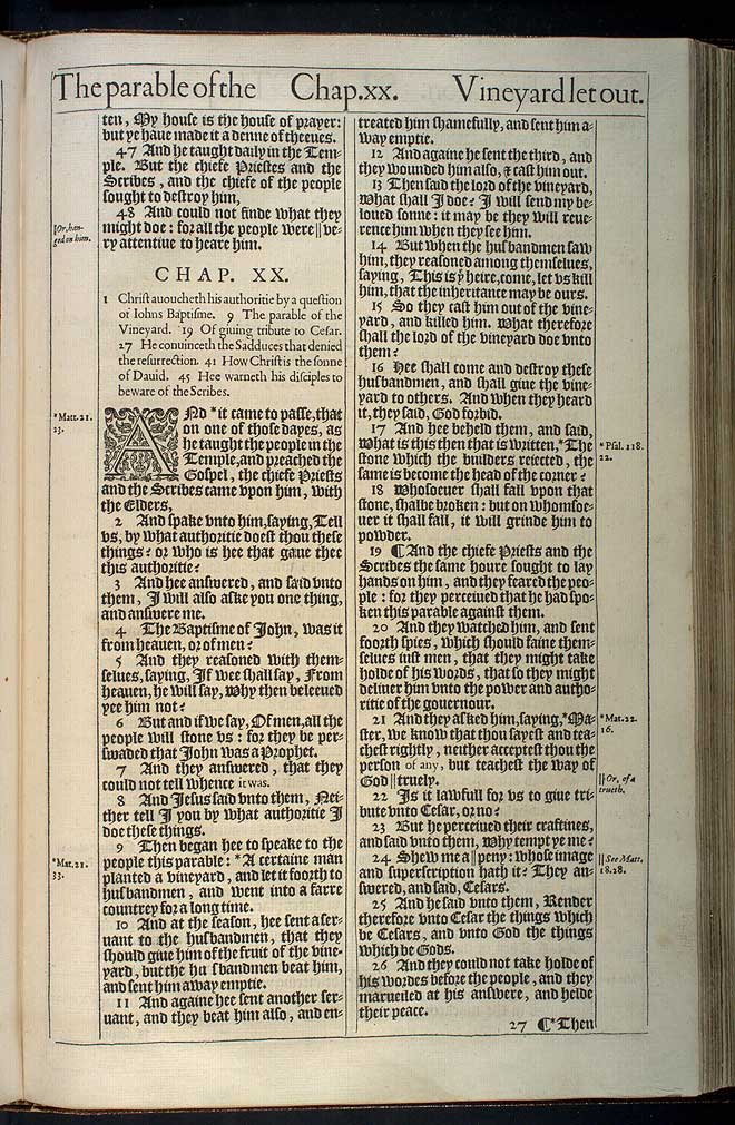 Luke Chapter 19 Original 1611 Bible Scan