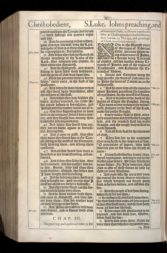 Luke Chapter 2 Original 1611 Bible Scan