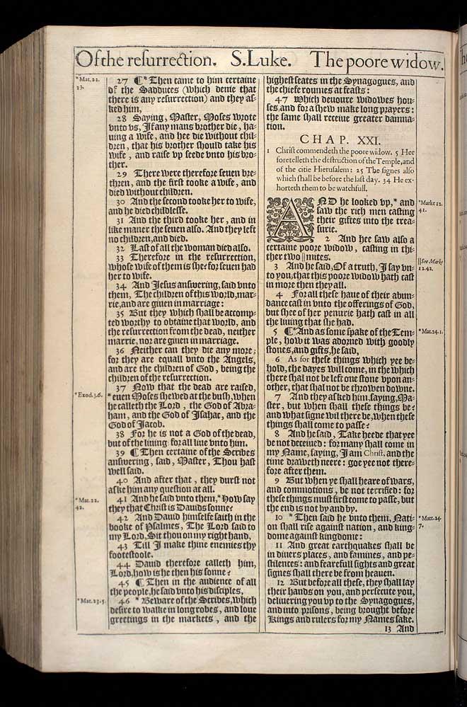 Luke Chapter 21 Original 1611 Bible Scan
