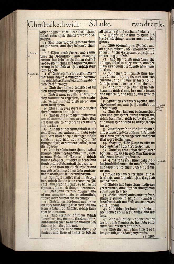 Luke Chapter 24 Original 1611 Bible Scan