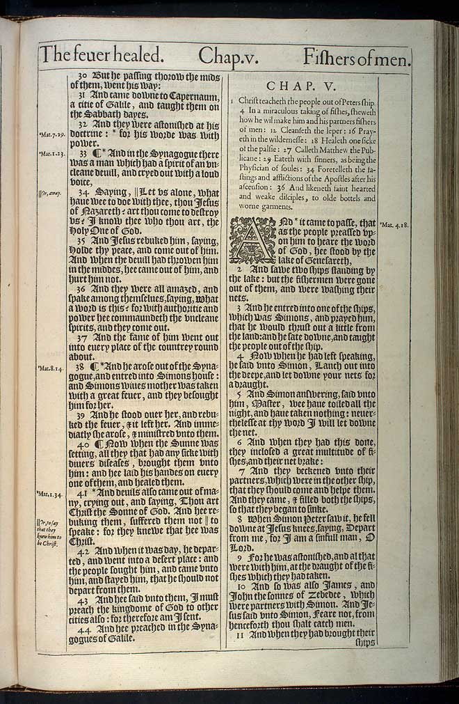 Luke Chapter 4 Original 1611 Bible Scan