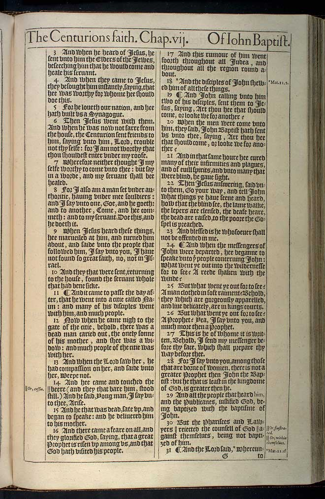 Luke Chapter 7 Original 1611 Bible Scan