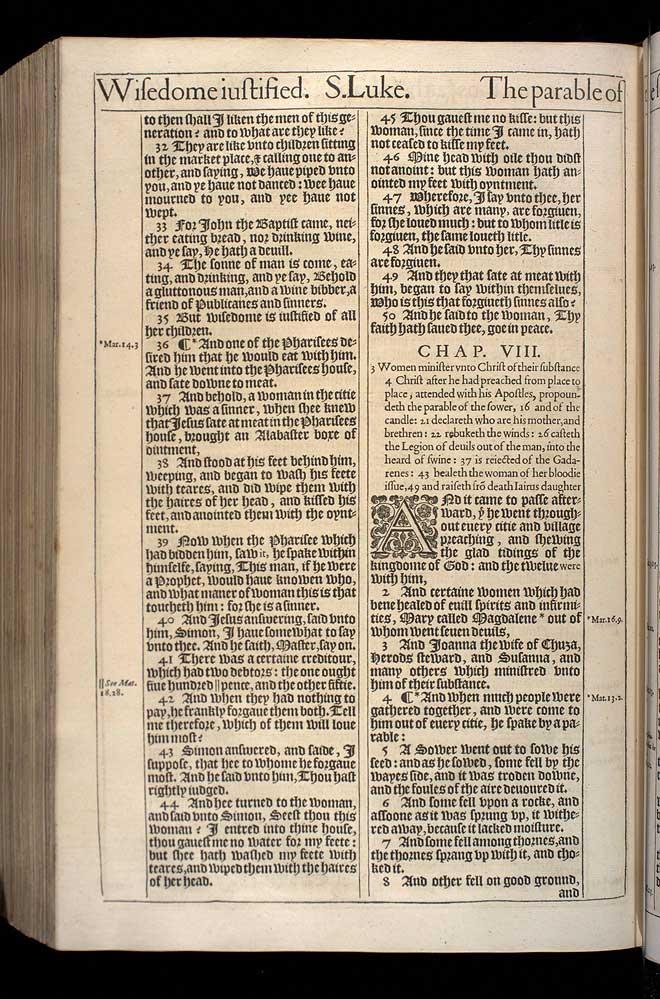 Luke Chapter 7 Original 1611 Bible Scan