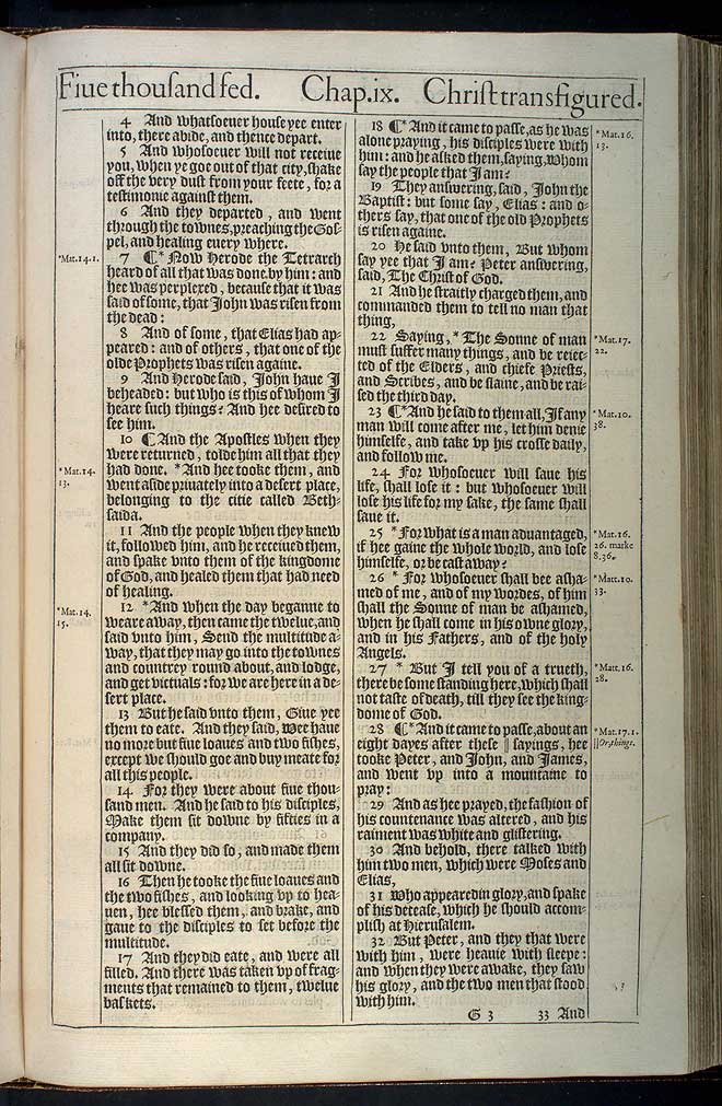 Luke Chapter 9 Original 1611 Bible Scan