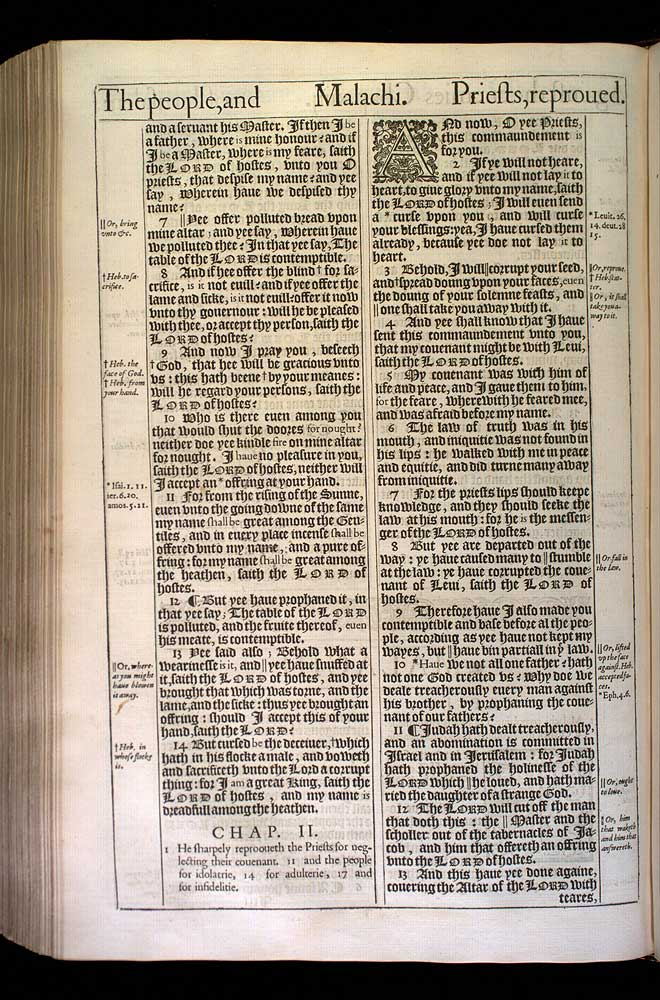 Malachi Chapter 2 Original 1611 Bible Scan