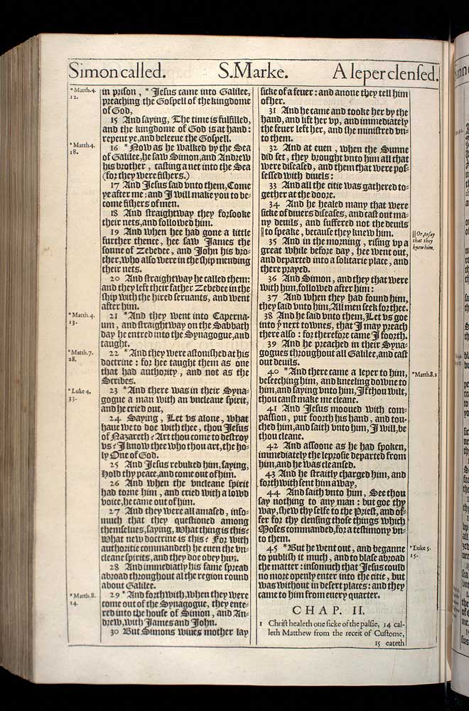 Mark Chapter 1 Original 1611 Bible Scan