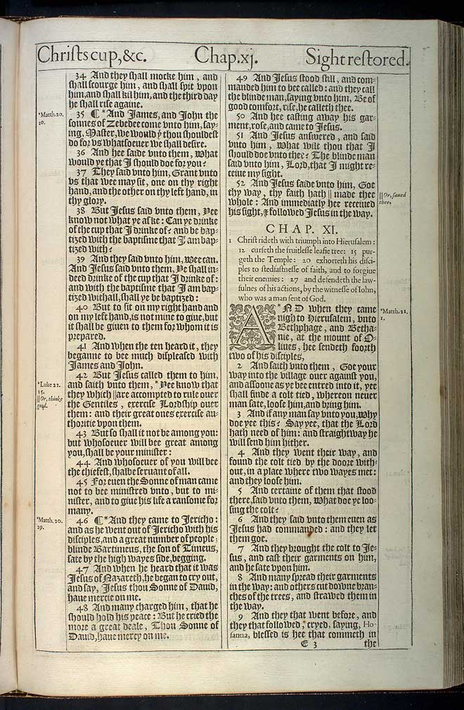 Mark Chapter 10 Original 1611 Bible Scan