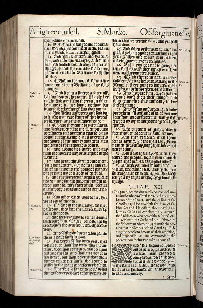 Mark Chapter 12 Original 1611 Bible Scan