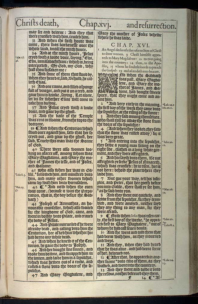 Mark Chapter 16 Original 1611 Bible Scan