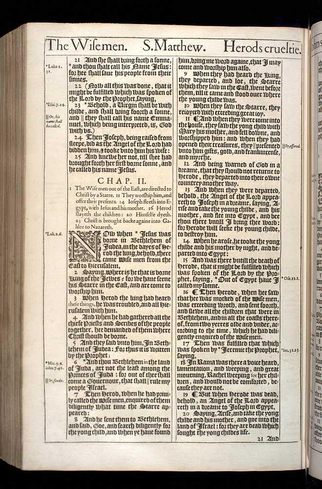 Matthew Chapter 2 Original 1611 Bible Scan