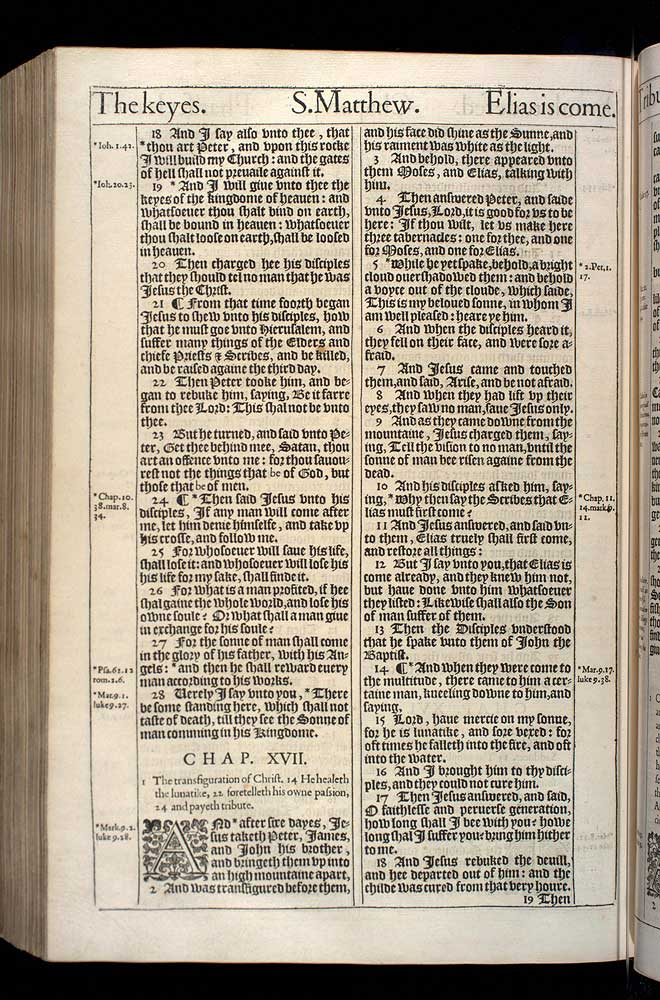 Matthew Chapter 17 Original 1611 Bible Scan